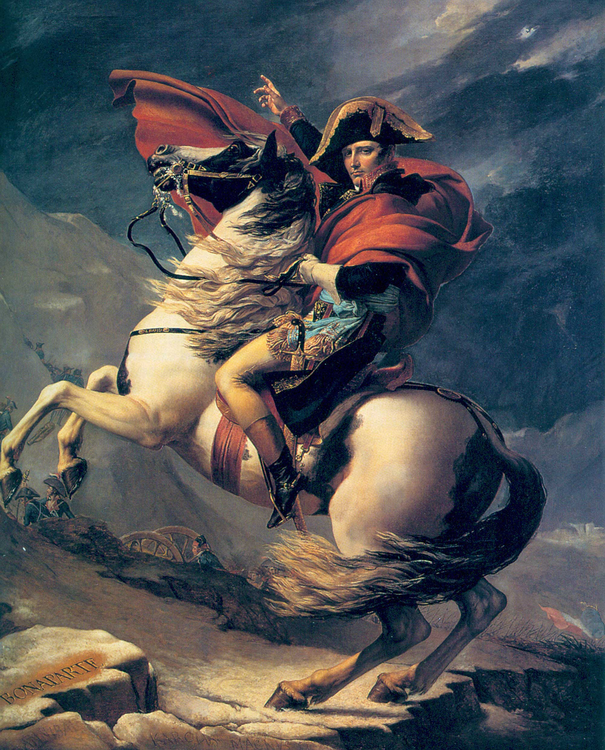 Napoleon Crossing the Alps (Second version)