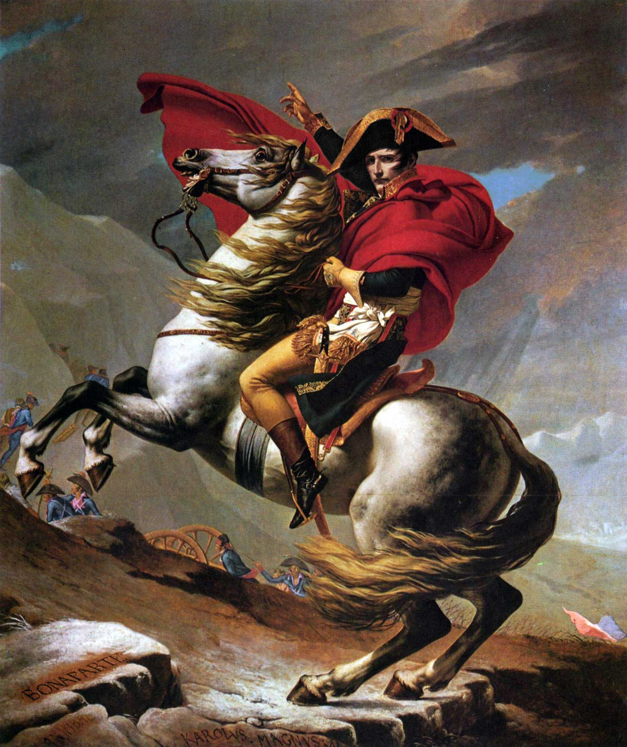 Napoleon Crossing the Alps (Belvedere version)